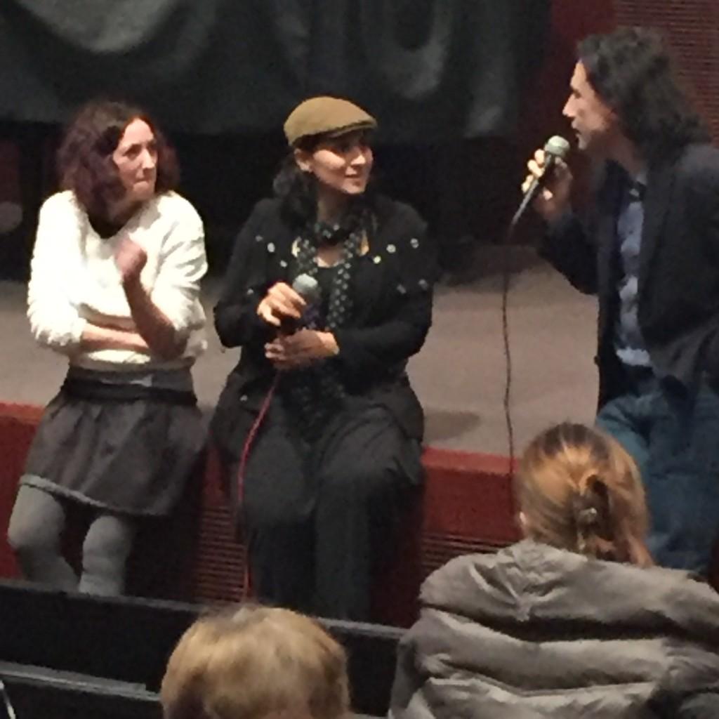 La regista turca Senem Tuzen intervistat al termine della proiezione